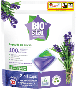 BIOstar cleaning products kapsułki do prania 2 in 1 caps
